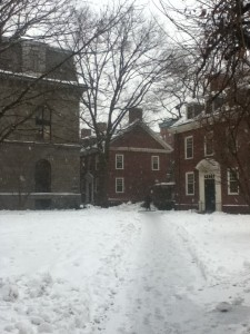 Harvard is quite beautiful in the snow.